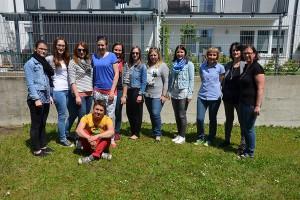 Studentice pedagoške visoke škole i sekretarica Gabi Kuzmits